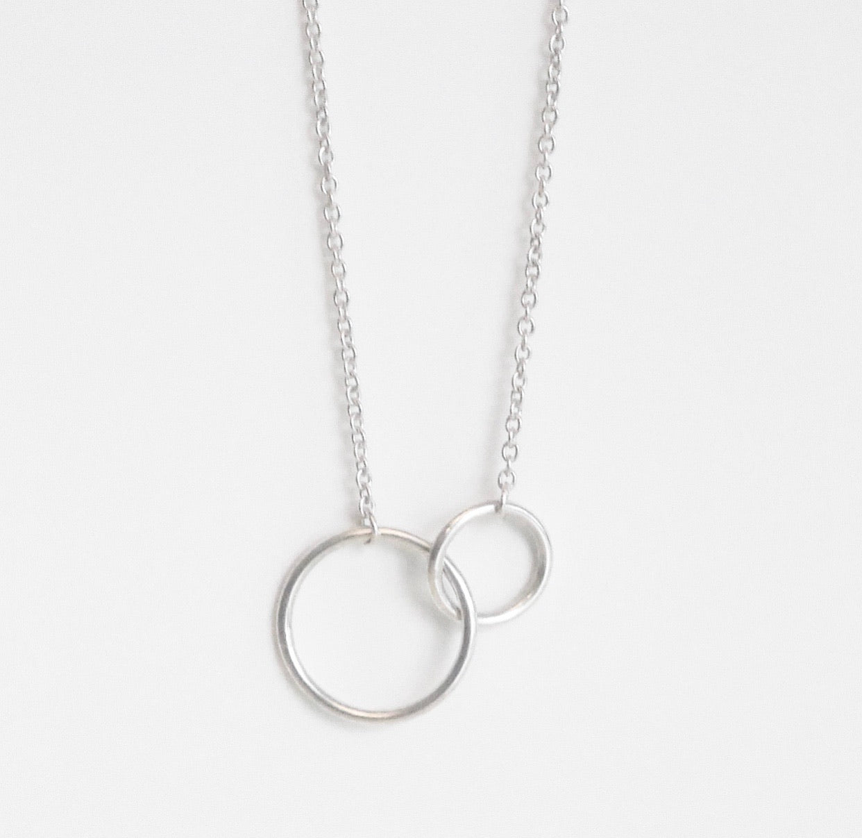 link necklace circle link necklace interlock necklace in sterling silver jewelry gifts gifts for friends cute necklace circle necklace interlock necklace necklace with two circles kesleyboutique girlwith3jobs