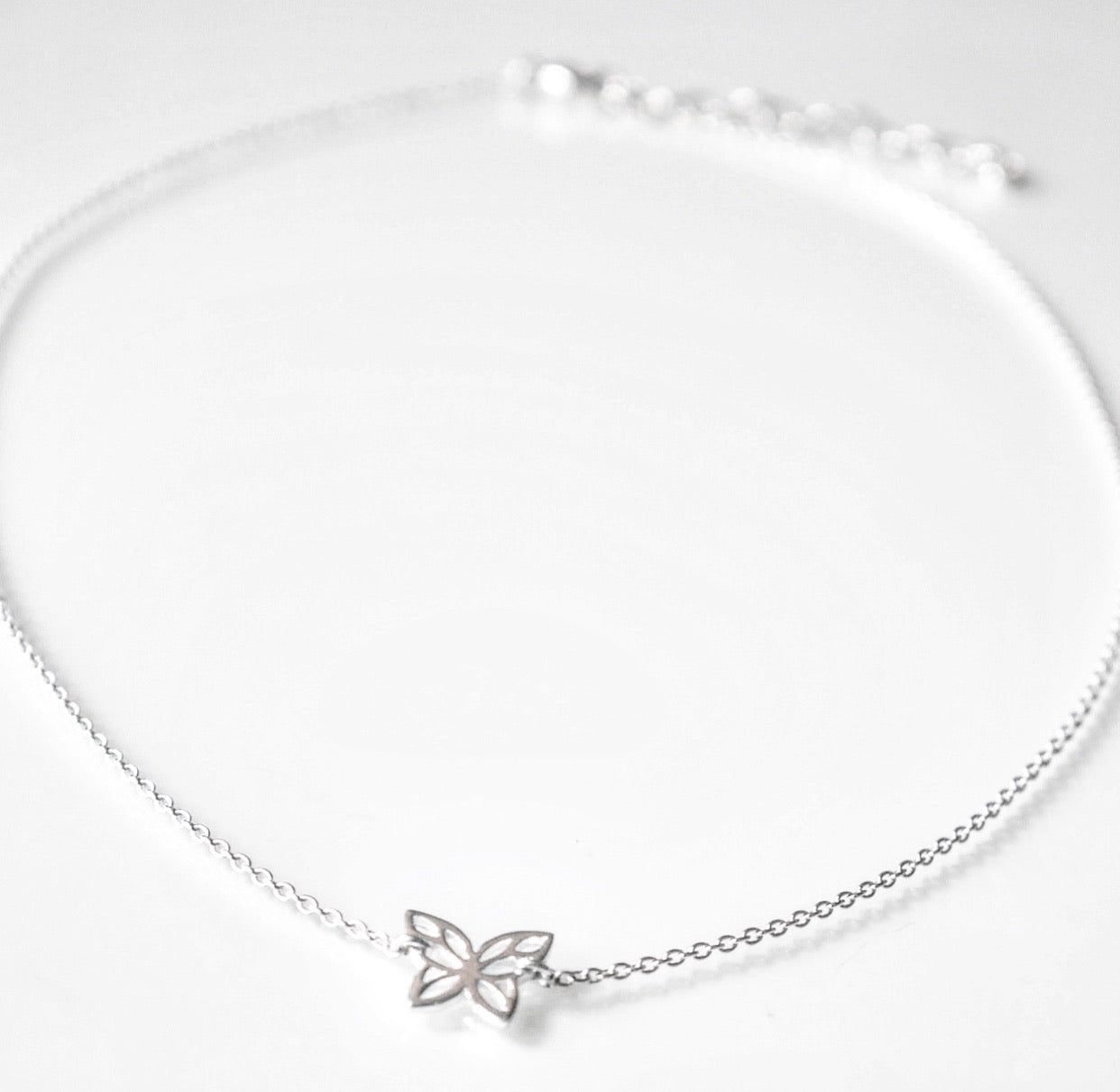 butterfly choker necklace, butterfly necklace in sterling silver, 925 sterling silver butterfly necklace butterfky jewelry by KesleyBoutique, girlwith3jobs