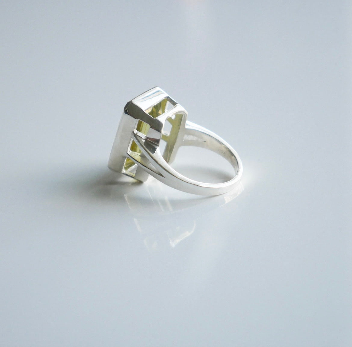 Lemon Quartz Sunset Statement Ring