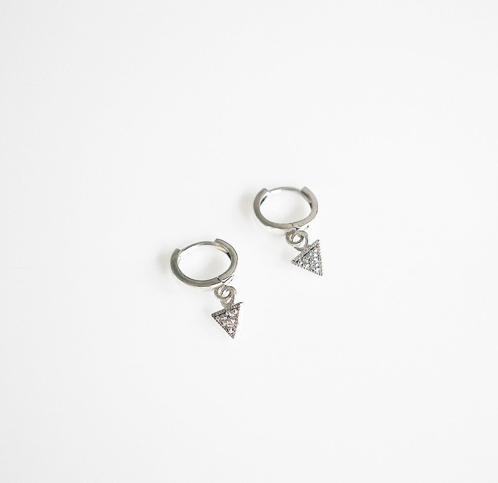 Chillin Triangle Small Hoop Earrings