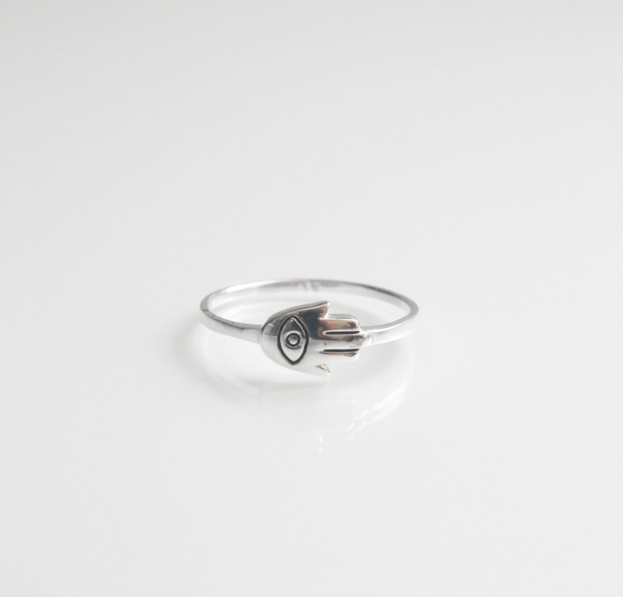 Little Hamsa Eye Ring
