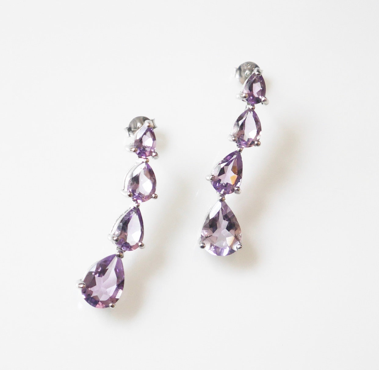 Amethyst drop earrings tear drop amethyst earrings amethyst earrings for event cocktail amethyst earrings, wedding amethyst earrings Kesleyboutique.com, girlwithjobs.com