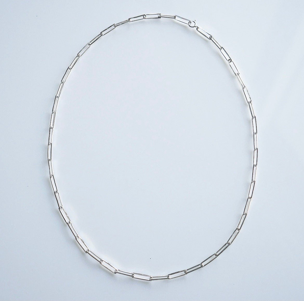 Rectangle Little Links Chain Necklace