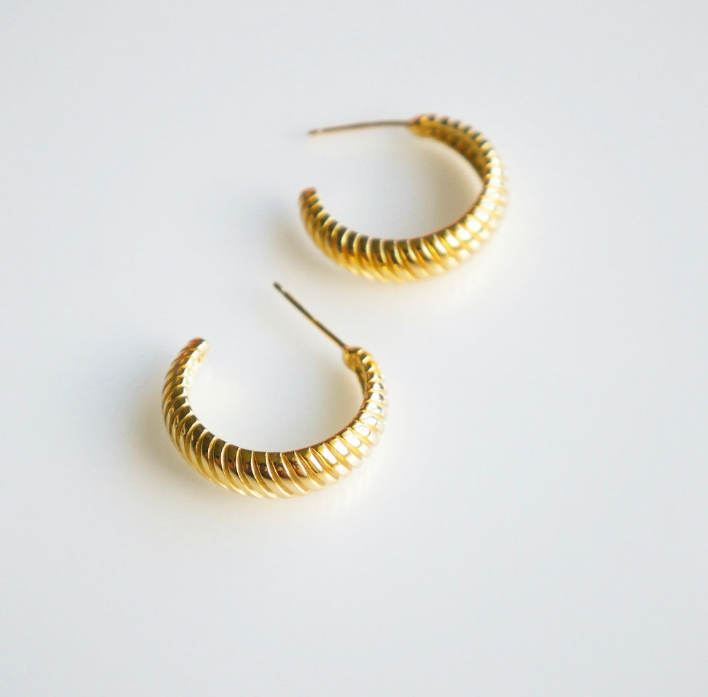Street Style Shell Golden Hoop Earrings