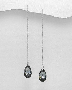 Evening Crystal Glass Earrings by Kesley
