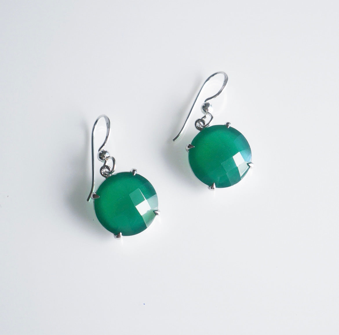 Green Onyx Gemstone Day Earrings