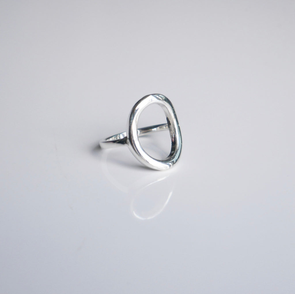 Daily  Oval Metal Ring