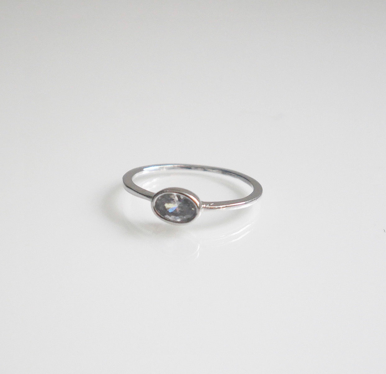 Oval CZ Simplistic Ring