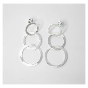 Three Circle Drop Earrings
