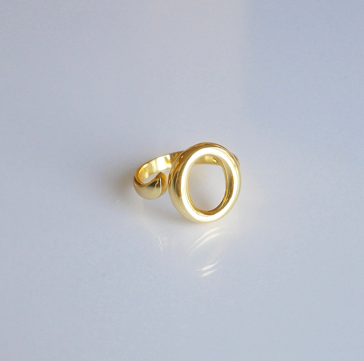 Golden Open Circle Adjustable Ring