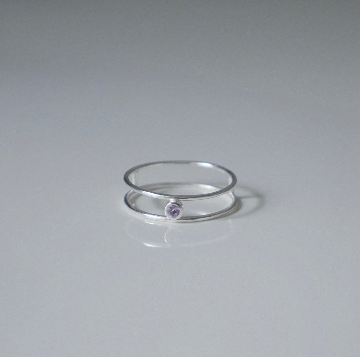 Double Wire Amethyst Ring
