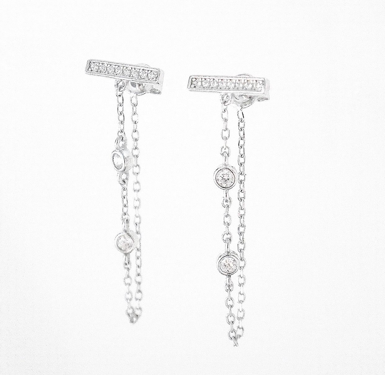 Chandelier Edge Wrap Earrings
