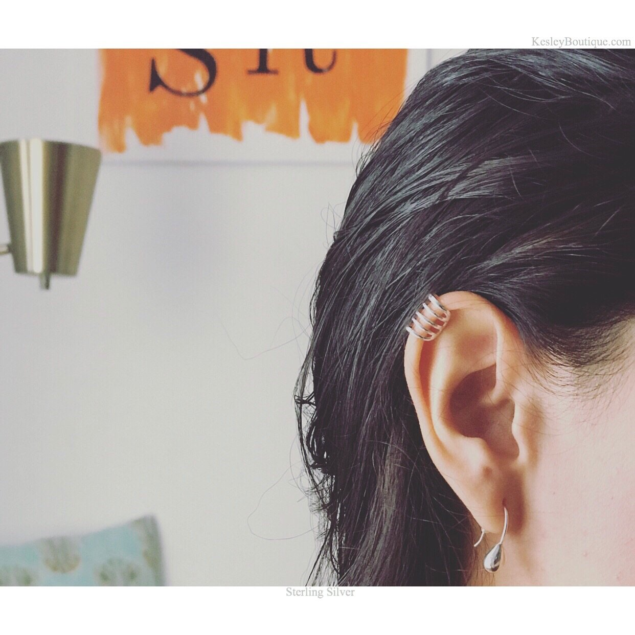 Ear Crawler in sterling silver by Kesley Boutique