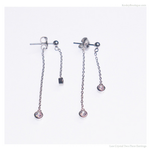 Lux Crystal Two Piece Earrings