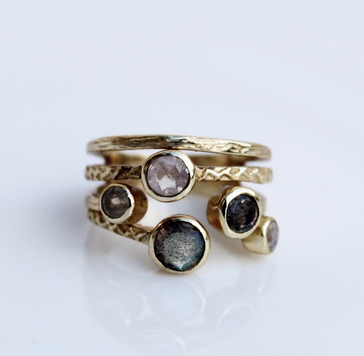 Gems and Gold Ring.