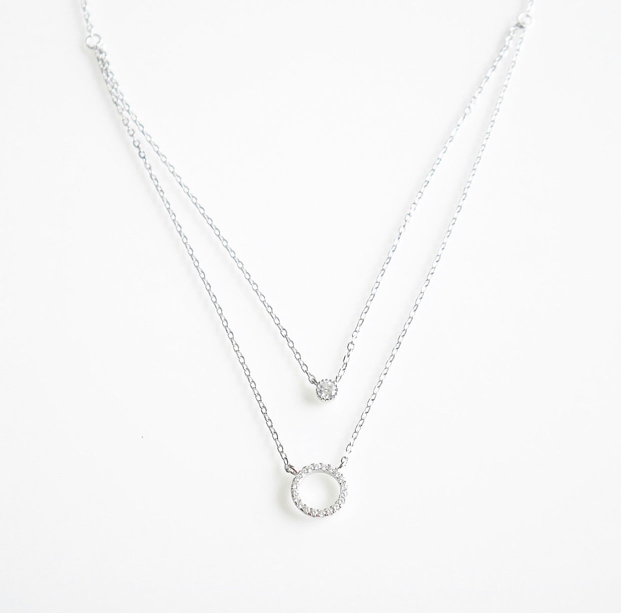 Circle Layered Angelina Necklace