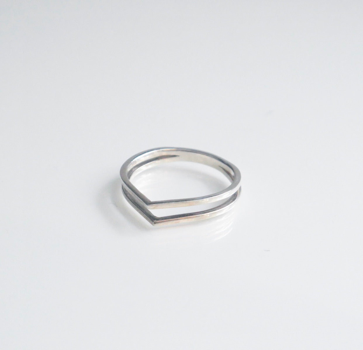 Two Like Triangle Ring