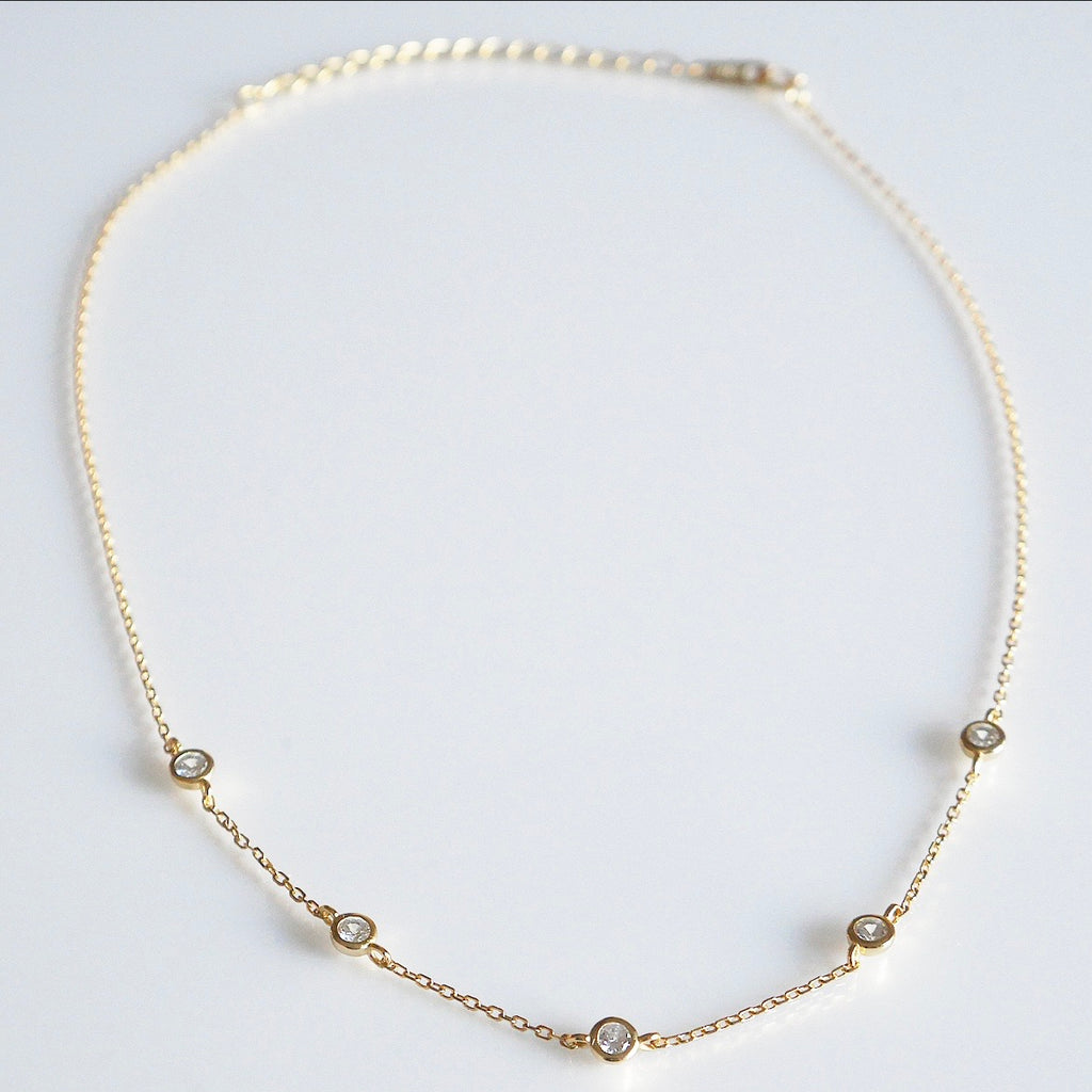 Sparkle by the Yard Short Choker Necklace