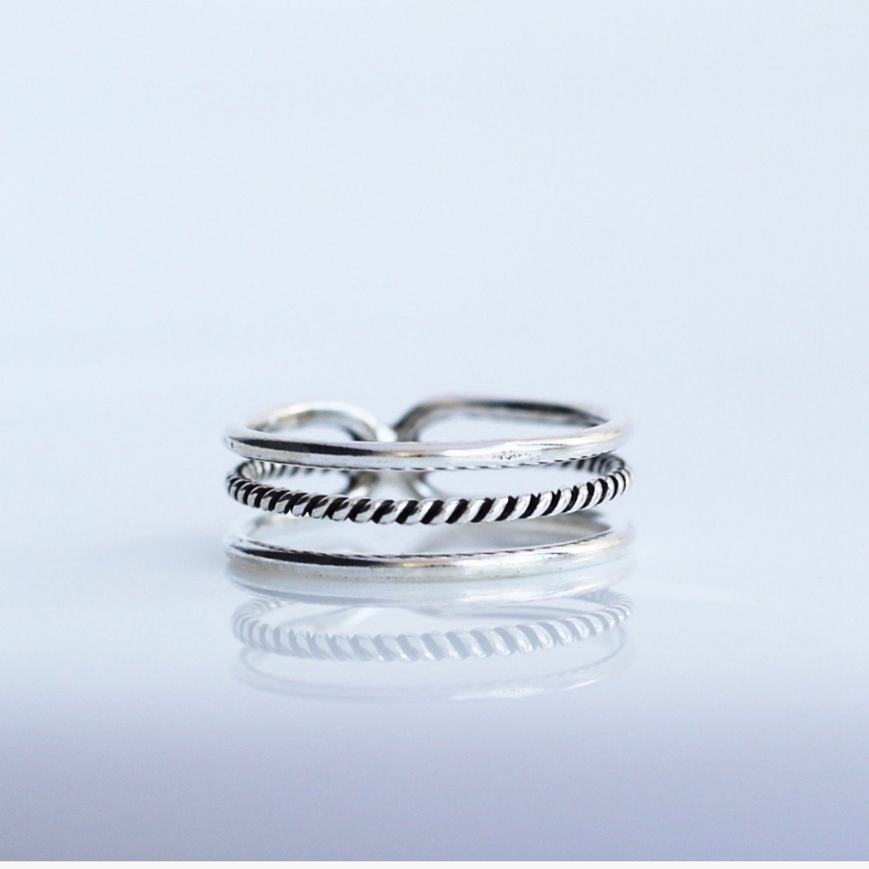 Effortless Twist Ring, stack ring, gifts for her, jewelry gifts, simple jewelry, sterling silver ring by KesleyBoutique.com, Girlwith3jobs.com