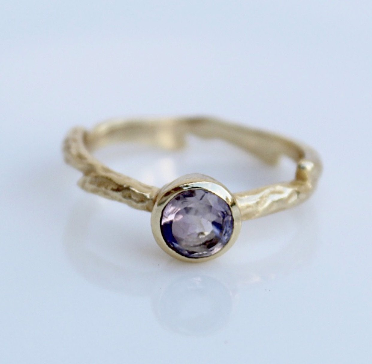 Golden Amethyst Ring.