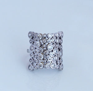 Silver Bubbles Ring