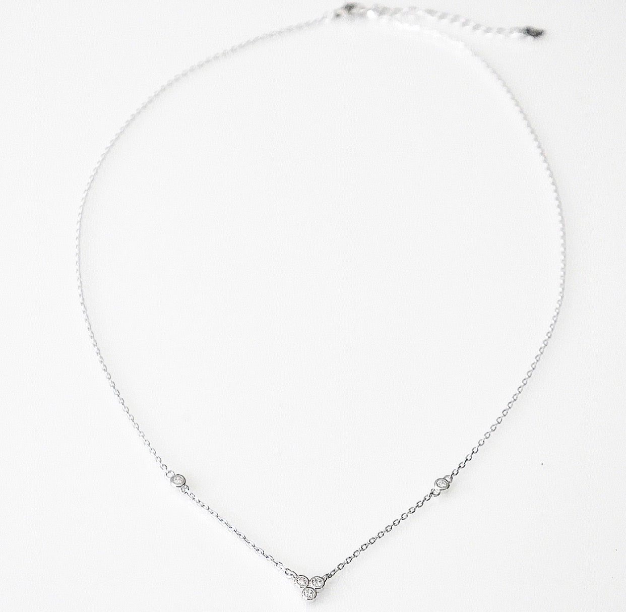 Daily Lux Bubble Crystal Necklace