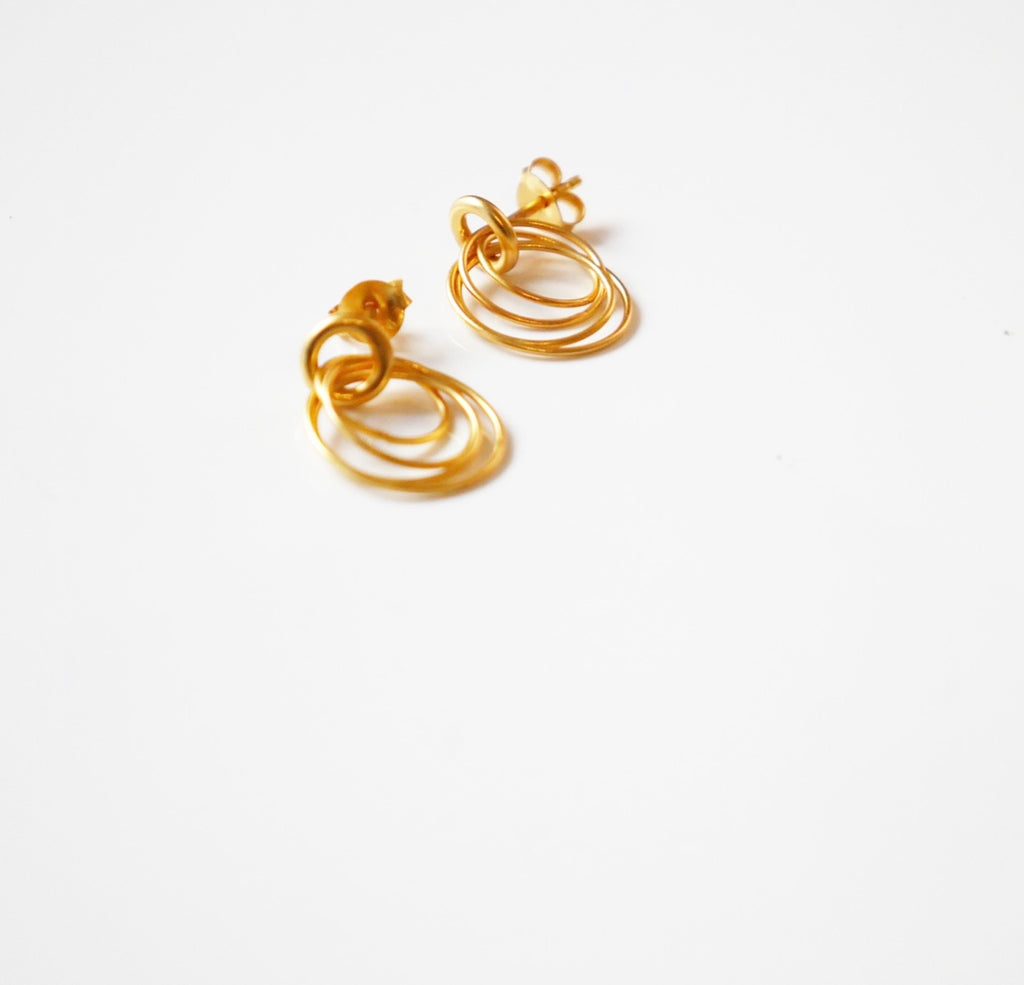 Circle Wired Metals Earrings