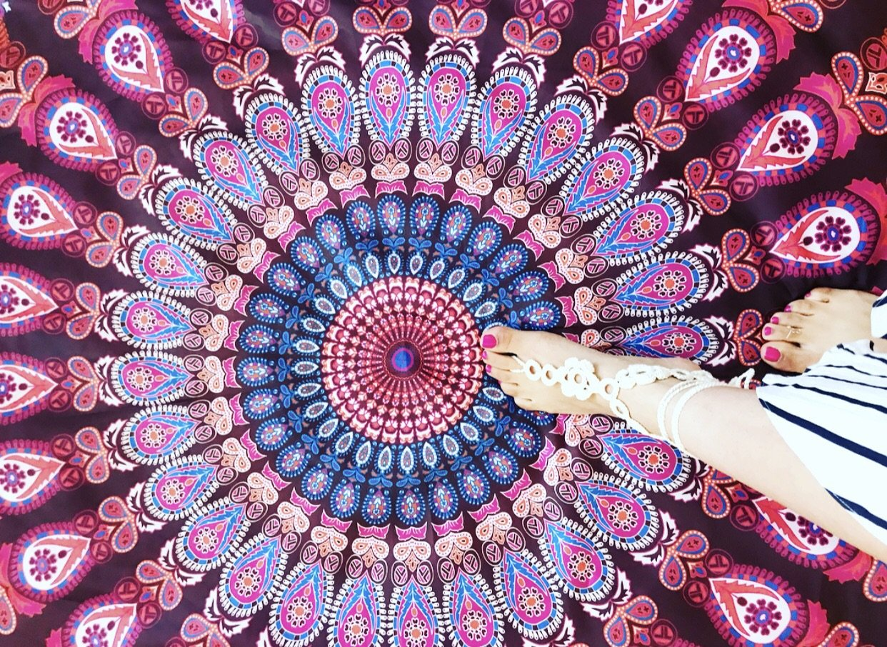Yoga Mat, Boho Tapestry, Festival Fashion, Beach Throw by Kesley Girlwith3jobs