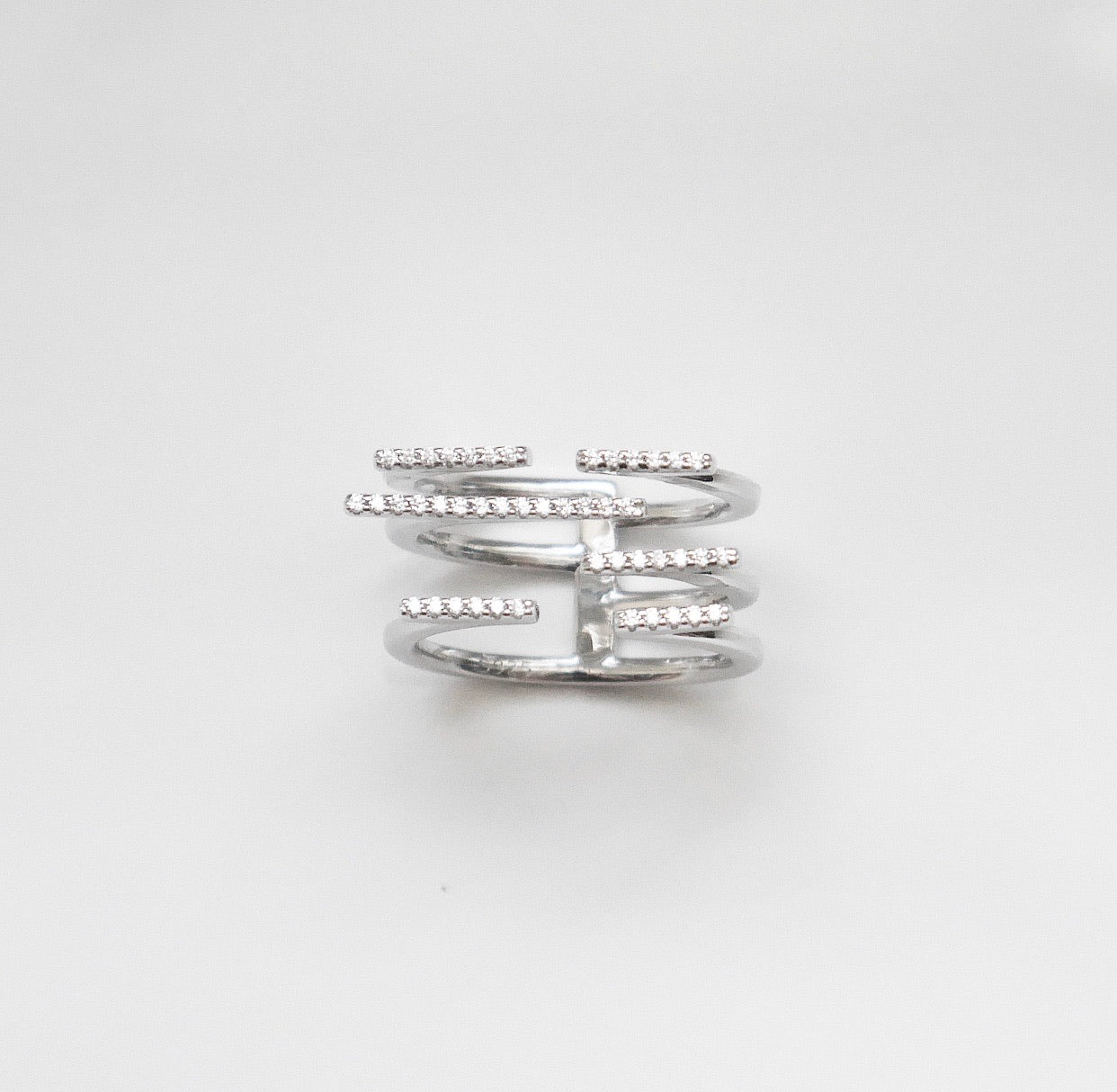 Sparkle Bars Statement Ring