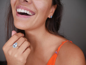 Water Drop Lux Topaz Ring