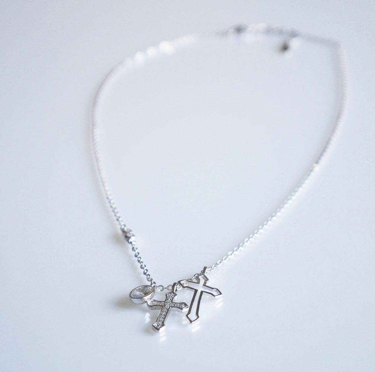 Multiple Crosses Babe Necklace