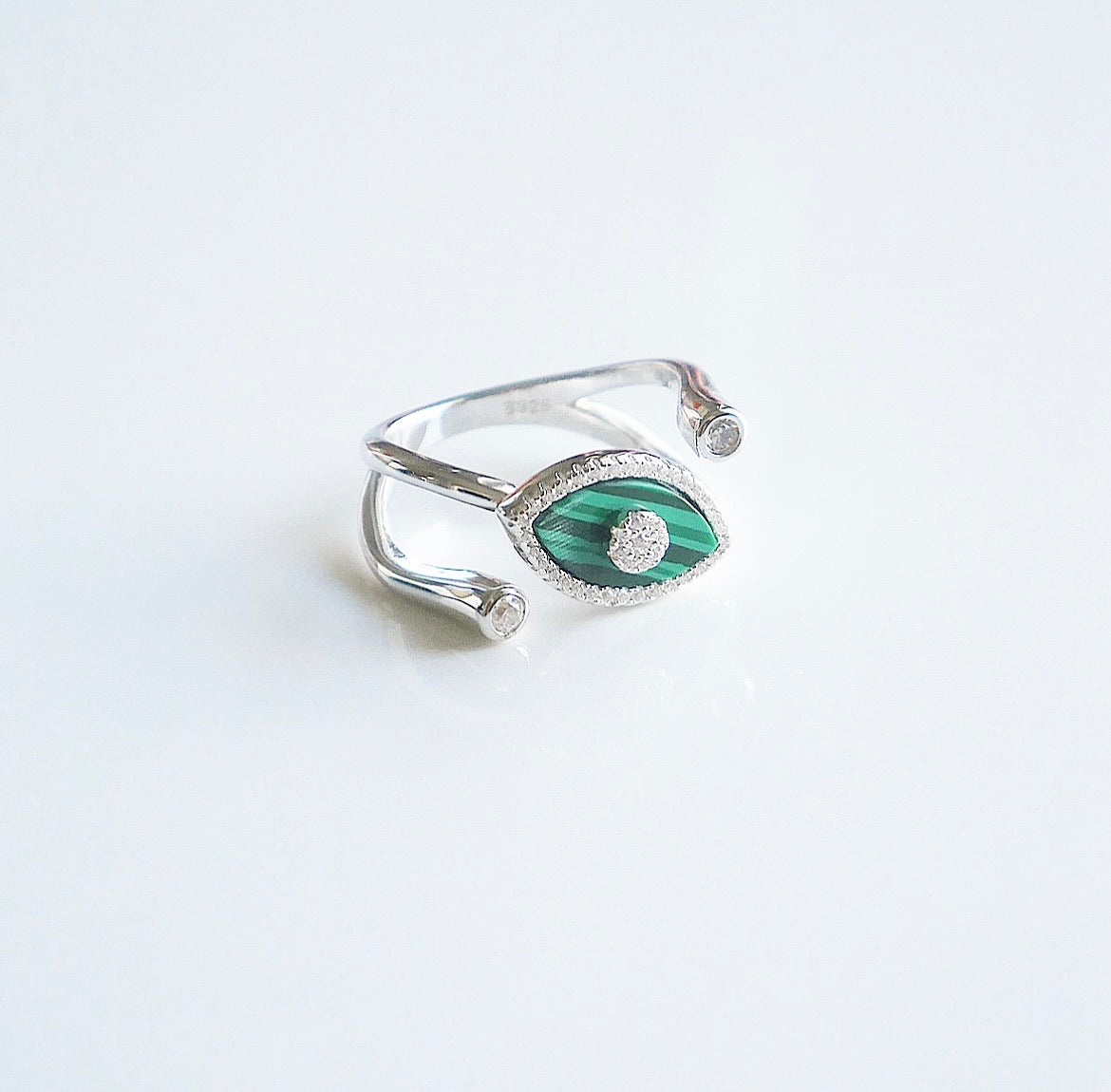 Eyes On Green Statement Ring