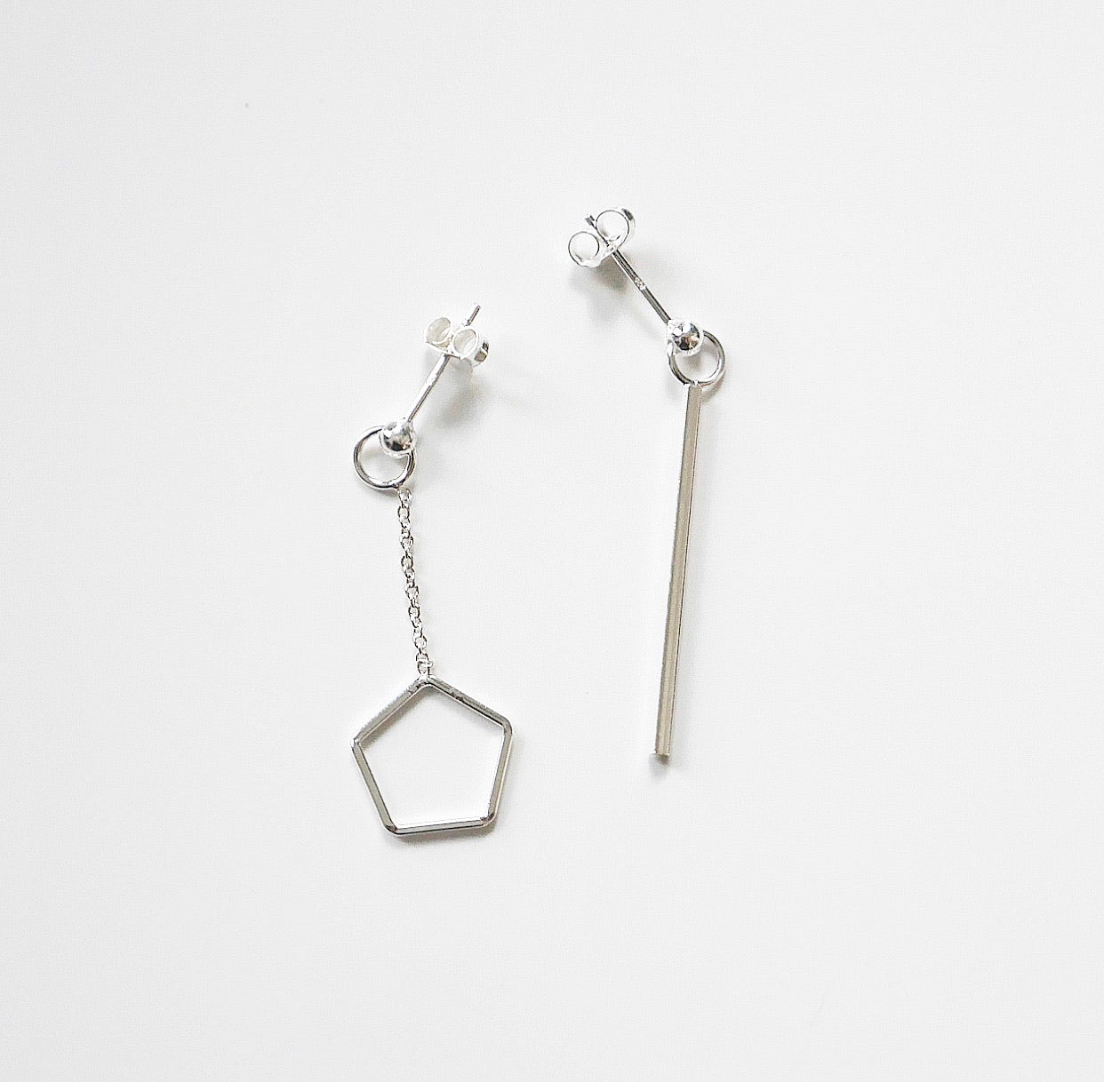 Pentagon Bar Shape Earrings