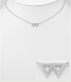 Two Night Triangle Necklace