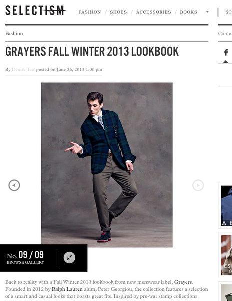 Look Book: Selectism x Greyers x Greenwich Vingage Co.