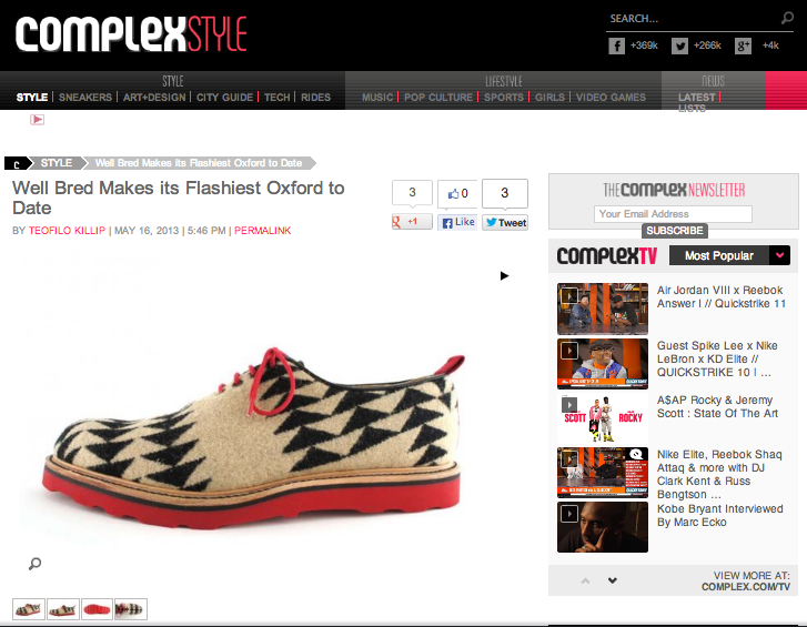 GVco x Well Bred Aztec Oxford Featured In Complex Magazine