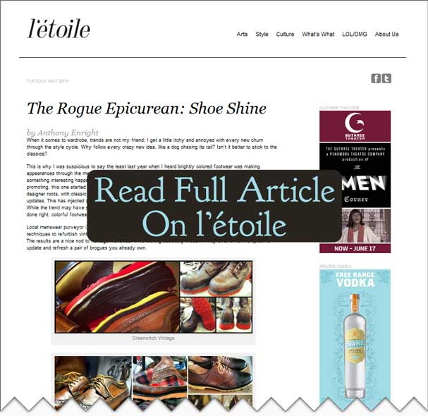 Greenwich Vintage featured in l'étoile