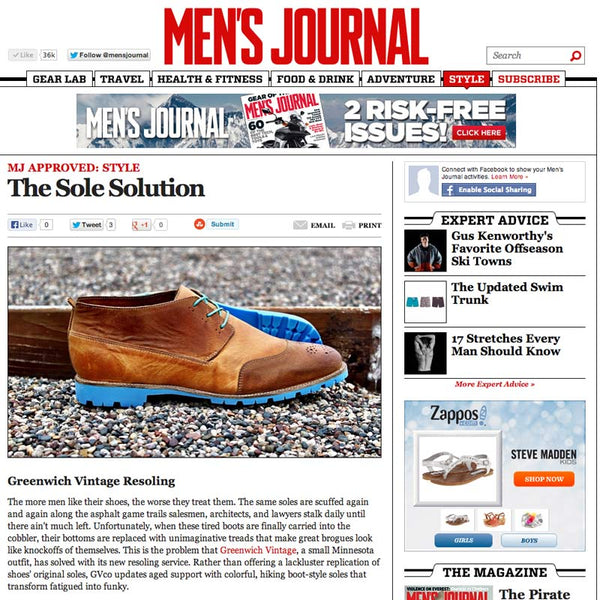 Greenwich Vintage in Men's Journal