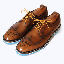Load image into Gallery viewer, Custom Built:  Brown Wingtip with Blue Sole