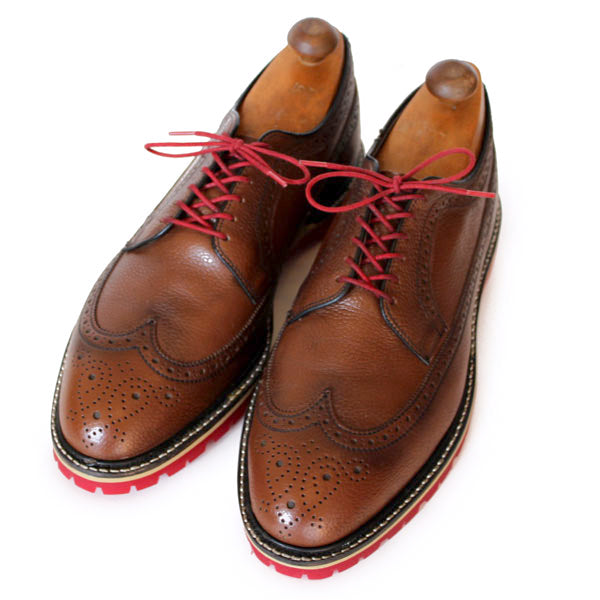 Custom:  Brown Wingtip with Red Sole