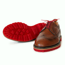 Load image into Gallery viewer, Custom Built:  Brown Wingtip with Red Sole