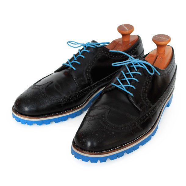 Custom:  Black Wingtip with Blue Sole