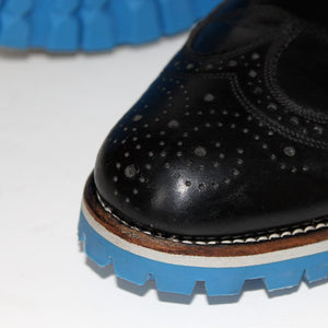 Custom Built:  Black Wingtip with Blue Sole