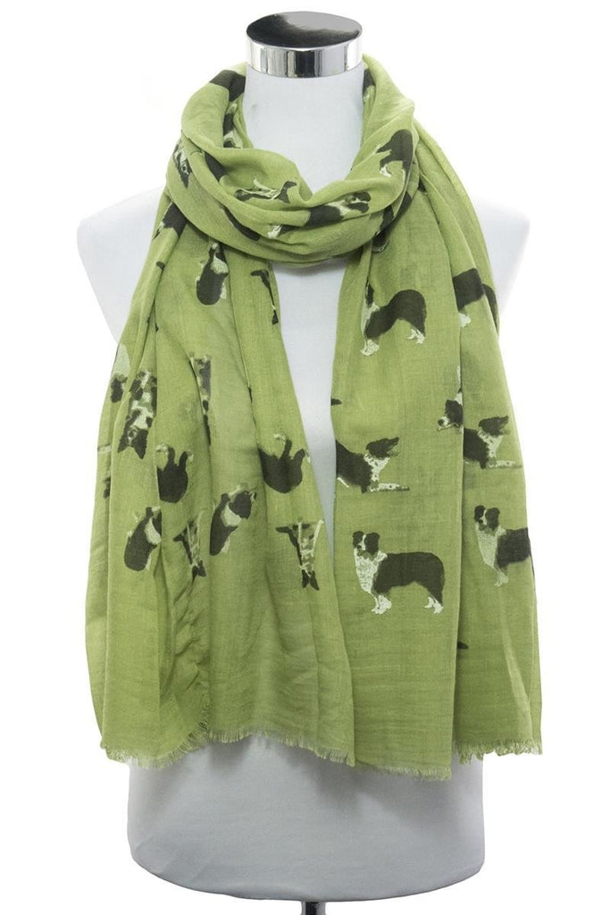 Border Collie Print Scarf