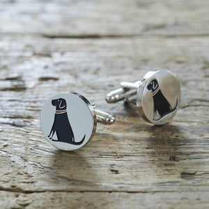 Cufflinks - Black Labrador