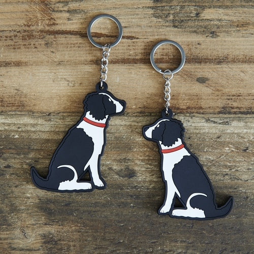 Springer Spaniel Keyring (Black and White)