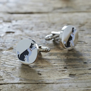 Cufflinks - Border Collie