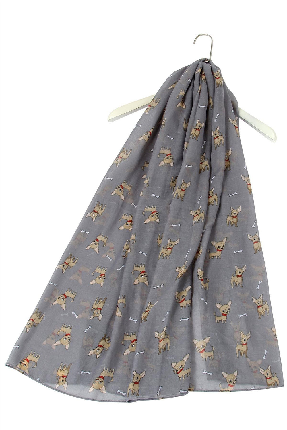 Chihuahua Dog & Bone Design Scarf