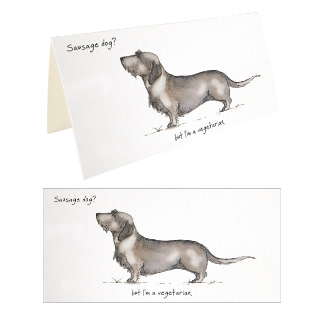 Wire Haired Dachshund Greeting Card – Sausage Dog