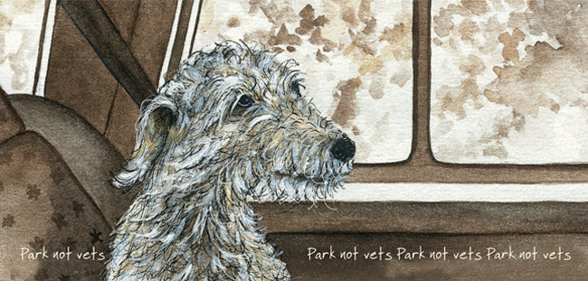 Scruffy Dog Greeting Card - Park Not Vets
